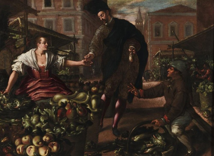 At the Rialto market with… an early 17th century painter