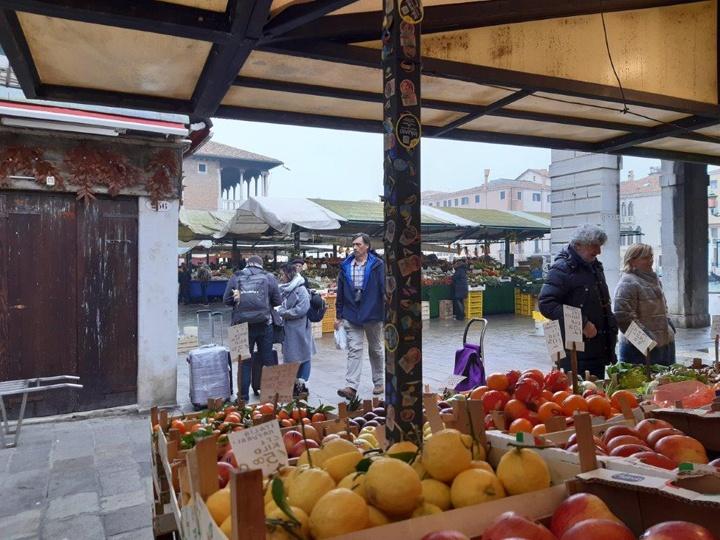 View of a bancarella/food stall