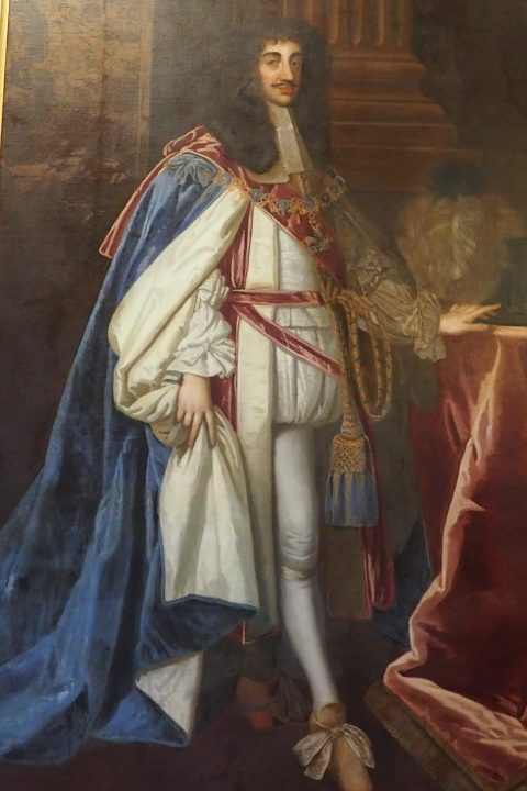 painting representing Charles II