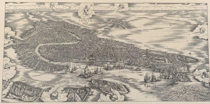 Bird-eye view of Venice, Jacopo De' Barbari, 1500