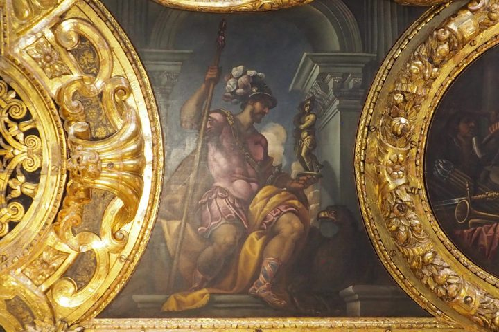 Andrea Vicentino, Roman soldier, ceiling of the Senate in the Doge's Palace