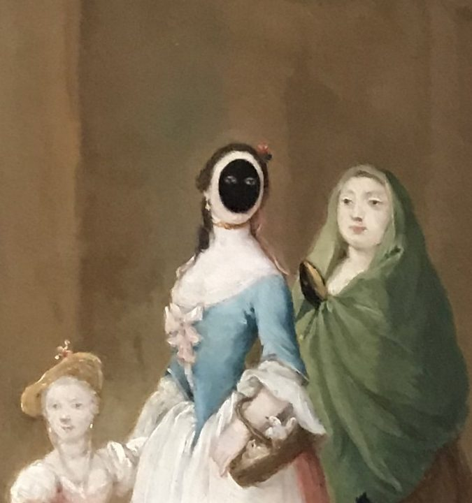 Moretta (from a painting by Pietro Longhi)