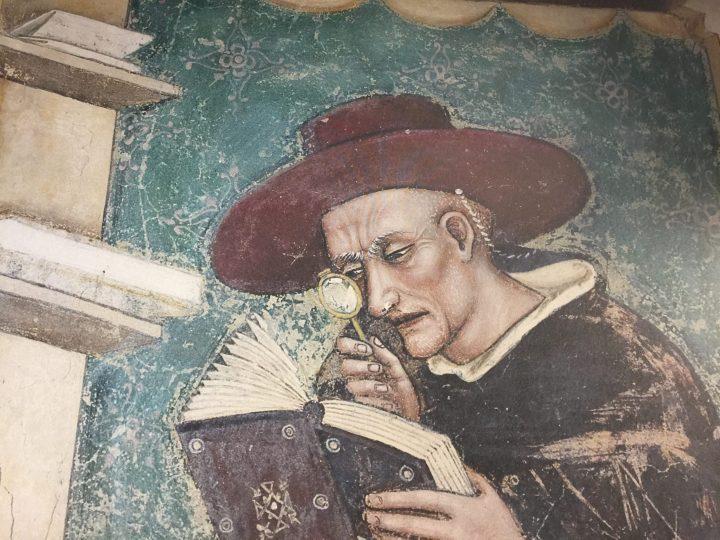 Photo 4 Nicolò di Rouen, reproduction d'une photographie grand format ; du cycle de la Salle Capitulaire (actuellement en cours de restauration) dans le Couvent des Dominicains de Trévise ; Musée de la Lunette, Pieve di Cadore