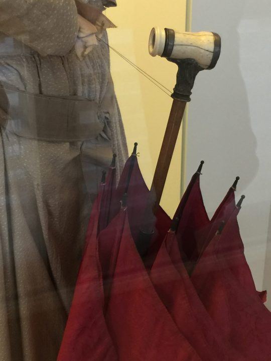 Figure 15 umbrella with a spyglass handle. Eyewear Museum, Pieve di Cadore