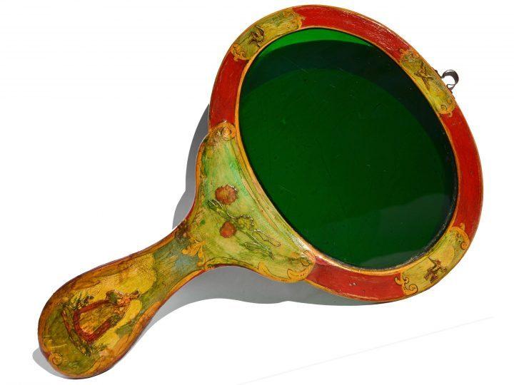 Photo 18 vero (= verre) de gondole ou de dame du 18e siècle ; c'est l'un des cinq verres de gondoles trouvés dans le monde jusqu'à présent ; Collection Vascellari VG1, Venise