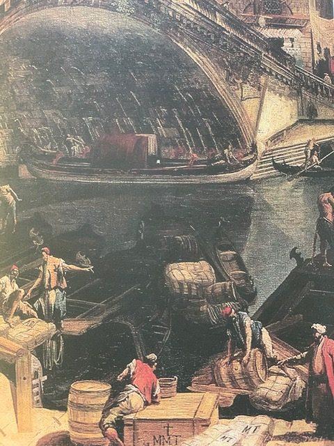 M. Marieschi 1740, Most Rialto od Riva del Vin, Eremitage Petrohrad