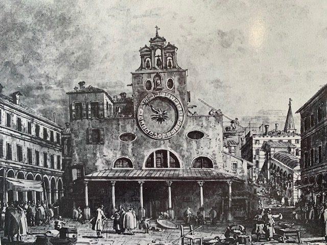 San Giacometto di Rialto, A. Canaletto 1747, Kabinet rytin, Berlin