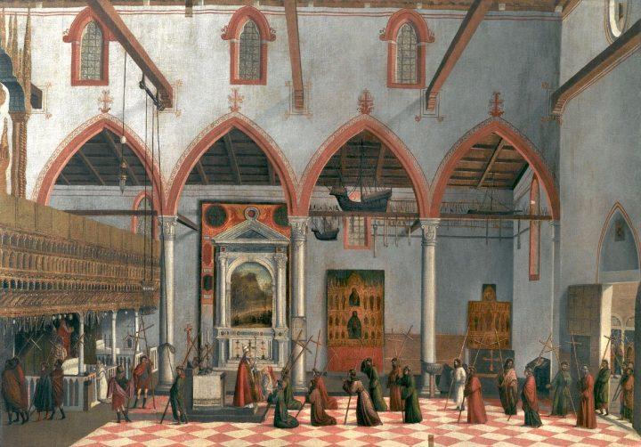 Vittore Carpaccio (attr.) - Apparition des Crucifiés, Galeries de l'Accademia, Venise