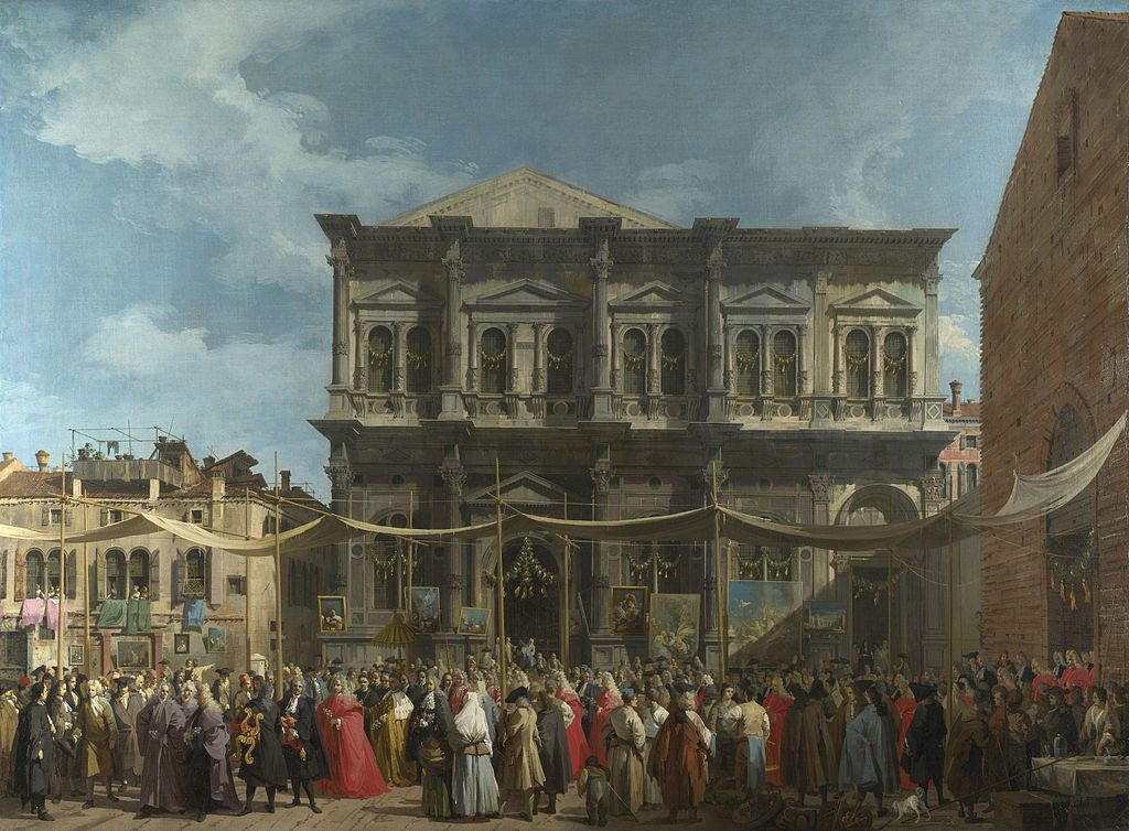 Canaletto, La fête de Saint Roch, National Gallery Londres