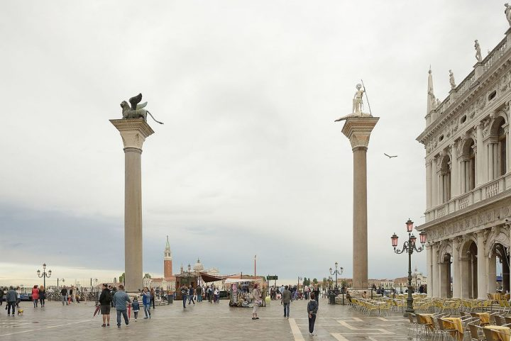 The two great columns in St. Mark's square, Venice