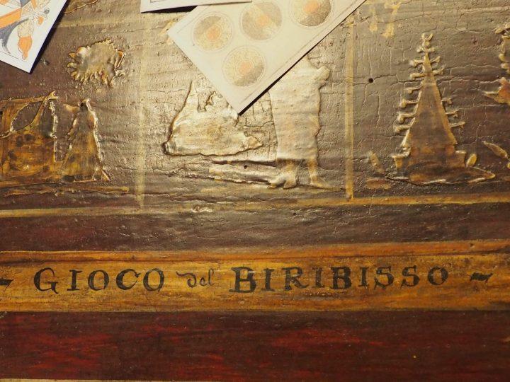 the biribiss game, detail, Carlo Goldoni's Home, Venice